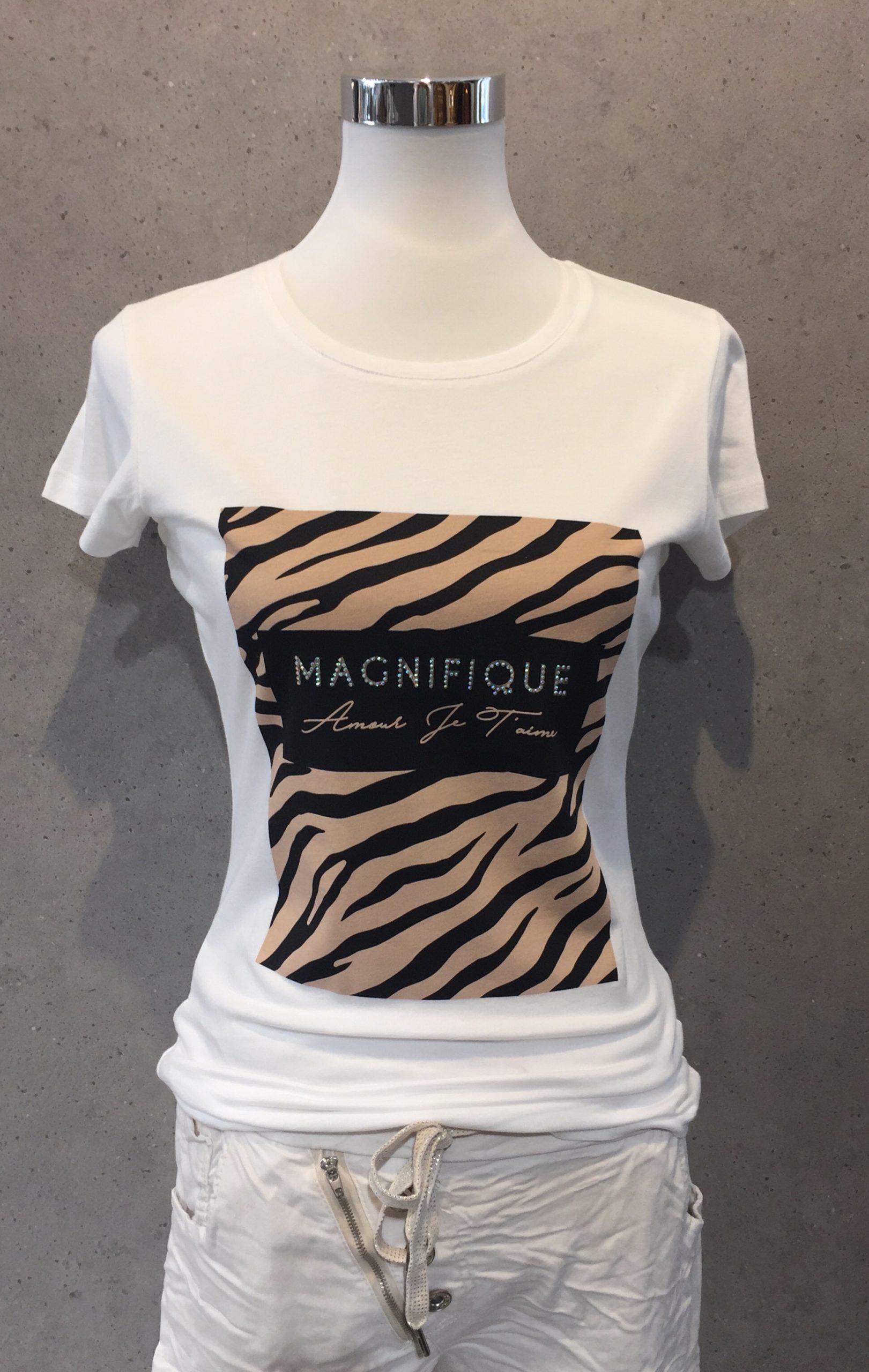 "Decay T-Shirt weiß mit Aufdruck ""Magnifique"" - Lieblingsstücke Wegberg"